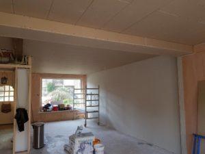Alkmaar aanbouw woonkamer, nieuwe keuken, plafond 3