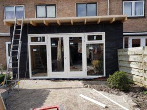 Alkmaar aanbouw woonkamer, nieuwe keuken, plafond 9