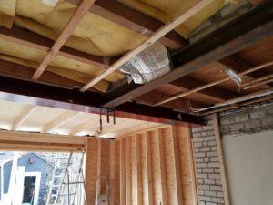 Alkmaar aanbouw woonkamer, nieuwe keuken, plafond 10